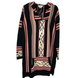 Love Aztec Hooded Sweater Size M/L
